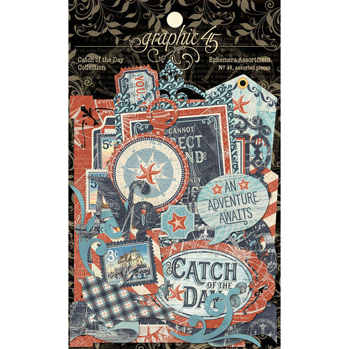 Graphic 45 - Catch Of The Day Collection - Die Cut Assortment