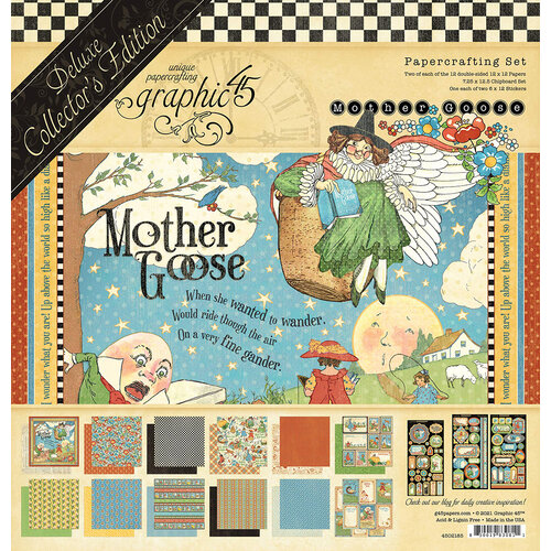 Graphic 45 - Mother Goose - 12 x 12 Deluxe Collector's Edition