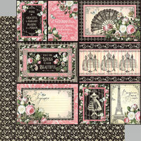 Graphic 45 - Elegance Collection - 12 x 12 Double Sided Paper - Irresistible