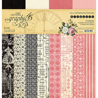 Graphic 45 - Elegance Collection - 12 x 12 Patterns and Solids Pack