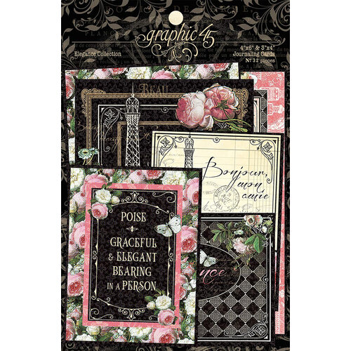 Graphic 45 - Elegance Collection - Ephemera and Journaling Cards
