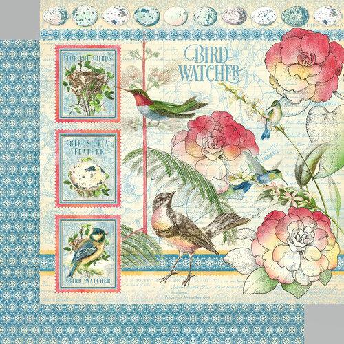 Graphic 45 - Bird Watcher Collection - 12 x 12 Double Sided Paper - Bird Watcher