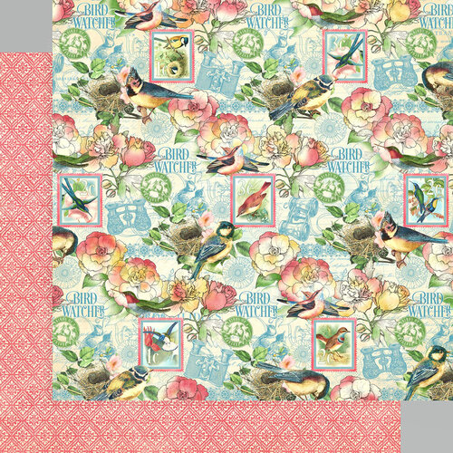 Graphic 45 - Bird Watcher Collection - 12 x 12 Double Sided Paper - Just Breathe