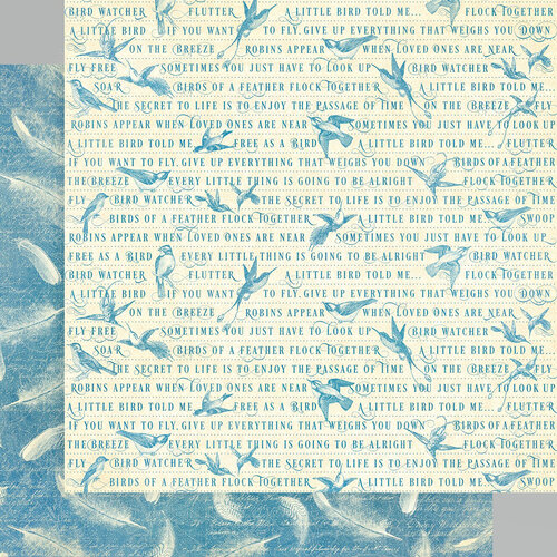 Graphic 45 - Bird Watcher Collection - 12 x 12 Double Sided Paper - Feather Your Nest