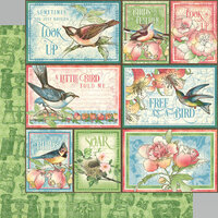 Graphic 45 - Bird Watcher Collection - 12 x 12 Double Sided Paper - Learn To Fly