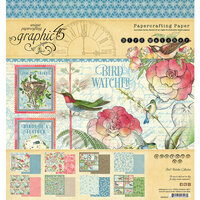 Graphic 45 - Bird Watcher Collection - 8 x 8 Paper Pack
