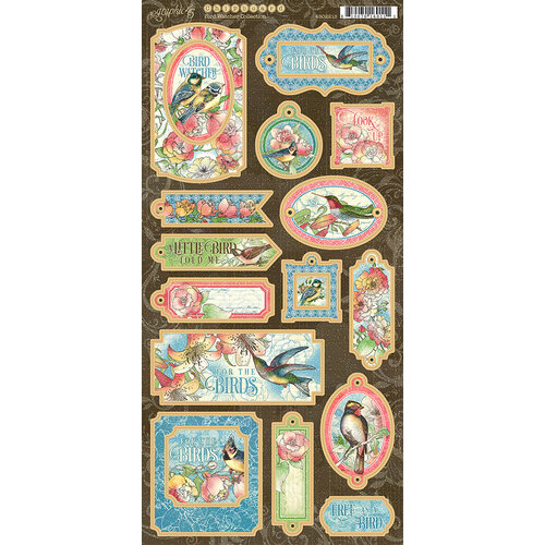 Graphic 45 - Bird Watcher Collection - Chipboard