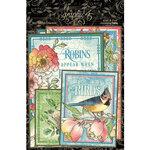 Graphic 45 - Bird Watcher Collection - Ephemera and Journaling Cards