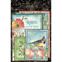 Graphic 45 - Bird Watcher Collection - Ephemera and Journaling Cards