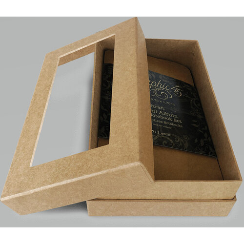 Graphic 45 - Staples Collection - Window Shoulder Box