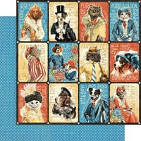 Graphic 45 - Well Groomed Collection - 12 x 12 Double Sided Paper - Purr-fect