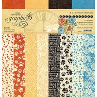 Graphic 45 - Well Groomed Collection - 12 x 12 Patterns and Solids Paper Pad
