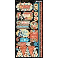 Graphic 45 - Well Groomed Collection - Stickers