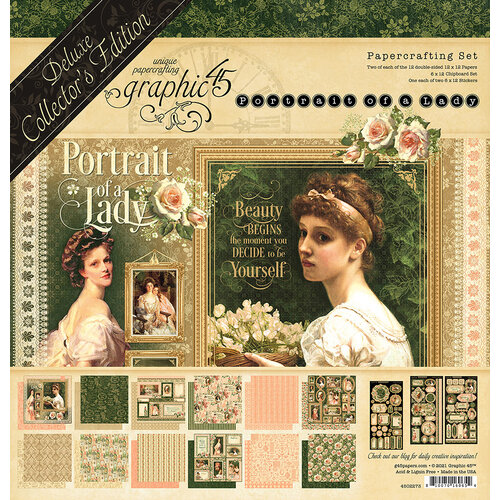 Graphic 45 - Portrait Of A Lady Collection - 12 x 12 Deluxe Collector's Edition