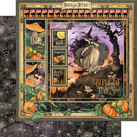 Graphic 45 - Midnight Tales Collection - Halloween - 12 x 12 Double Sided Paper - Midnight Tales