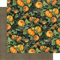 Graphic 45 - Midnight Tales Collection - Halloween - 12 x 12 Double Sided Paper - Pumpkin Patch
