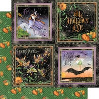 Graphic 45 - Midnight Tales Collection - Halloween - 12 x 12 Double Sided Paper - Hallows' Eve
