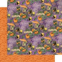 Graphic 45 - Midnight Tales Collection - Halloween - 12 x 12 Double Sided Paper - Hocus Pocus
