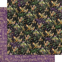 Graphic 45 - Midnight Tales Collection - Halloween - 12 x 12 Double Sided Paper - Fairy Mischief