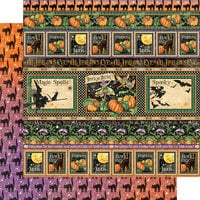 Graphic 45 - Midnight Tales Collection - Halloween - 12 x 12 Double Sided Paper - Abracadabra
