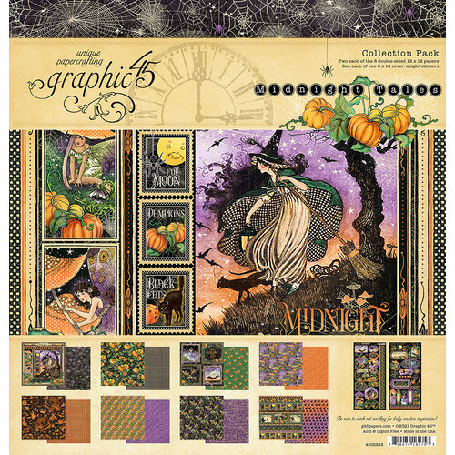 Graphic 45 - Midnight Tales Collection - Halloween - 12 x 12 Collection Pack