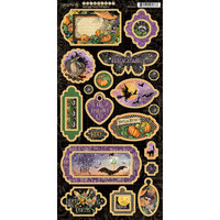 Graphic 45 - Midnight Tales Collection - Halloween - Chipboard