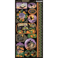 Graphic 45 - Midnight Tales Collection - Halloween - Stickers