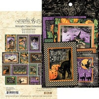 Graphic 45 - Midnight Tales Collection - Halloween - Journaling Cards