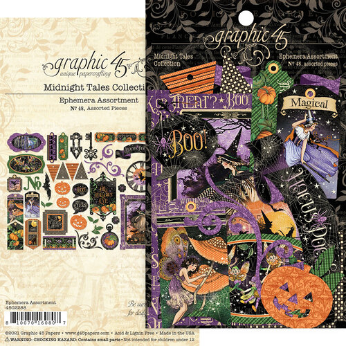 Graphic 45 - Midnight Tales Collection - Halloween - Ephemera Assortment
