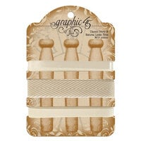 Graphic 45 - Staples Embellishments Collection - Classic Ivory and Natural Linen Trim