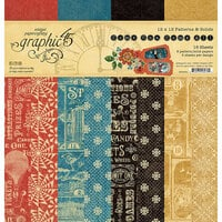 Graphic 45 - Come One, Come All! Collection - 12 x 12 Solids and Patterns Pack
