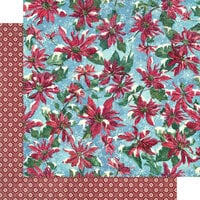 Graphic 45 - Let It Snow Collection - Christmas - 12 x 12 Double Sided Paper - Poinsettia Parade