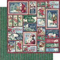 Graphic 45 - Let It Snow Collection - Christmas - 12 x 12 Double Sided Paper - So Very Merry