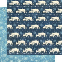 Graphic 45 - Let It Snow Collection - Christmas - 12 x 12 Double Sided Paper - Polar Bear Prance