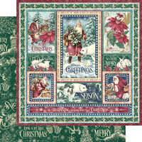 Graphic 45 - Let It Snow Collection - Christmas - 12 x 12 Double Sided Paper - Winter Wonders