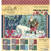 Graphic 45 - Let It Snow Collection - Christmas - 8 x 8 Paper Pad