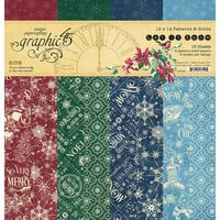 Graphic 45 - Let It Snow Collection - Christmas - 12 x 12 Solids and Patterns Pack