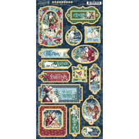 Graphic 45 - Let It Snow Collection - Christmas - Chipboard