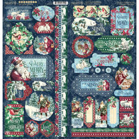Graphic 45 - Let It Snow Collection - Christmas - Stickers