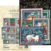 Graphic 45 - Let It Snow Collection - Christmas - Journaling Cards