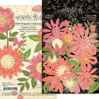 Graphic 45 - Staples Embellishments Collection - Flower Assortment - Shades of Pink
