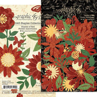 Graphic 45 - Staples Embellishments Collection - Flower Assortment - Shades of Red