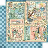 Graphic 45 - Alice's Tea Party Collection - 12 x 12 Double Sided Paper - Alice's Tea Party