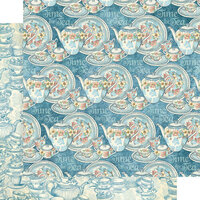 Graphic 45 - Alice's Tea Party Collection - 12 x 12 Double Sided Paper - Brilliant