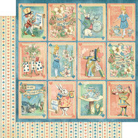 Graphic 45 - Alice's Tea Party Collection - 12 x 12 Double Sided Paper - Dreamy