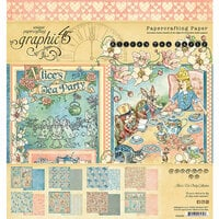 Graphic 45 - Alice's Tea Party Collection - 8 x 8 Paper Pad