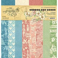 Graphic 45 - Alice's Tea Party Collection - 12 x 12 Patterns and Solids Paper Pad
