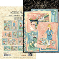 Graphic 45 - Alice's Tea Party Collection - Journaling Cards