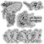 Graphic 45 - Hampton Art - Once Upon a Springtime Collection - Cling Mounted Rubber Stamps - One