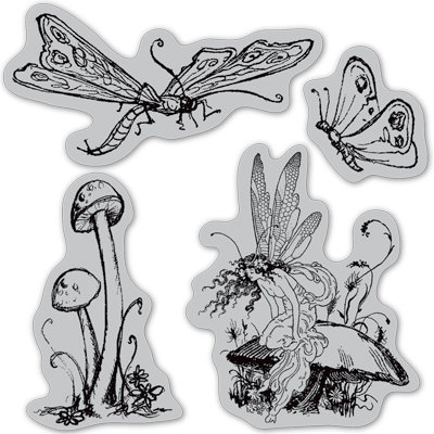 Graphic 45 - Hampton Art - Once Upon a Springtime Collection - Cling Mounted Rubber Stamps - Three